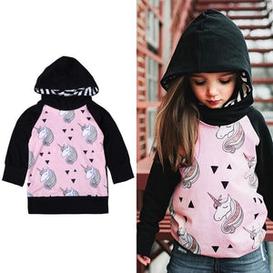 Children Hoodies Girls Printed Long Sleeve Hooded Jackets