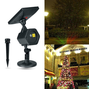 Outdoor LED Laser Projector Solar Light Home Garden Party Christmas Lights Waterproof