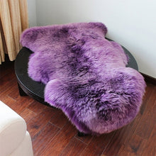 Load image into Gallery viewer, 4-in-1 Super Soft Washable Shiny Sheepskin Fur Wool Carpets Runner Rugs