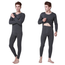 Load image into Gallery viewer, 2Pcs Men Thermal Underwear Set Winter Warm Thicken Long Suits