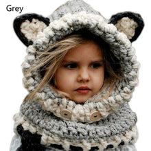 Load image into Gallery viewer, Warm Baby Girls Hats Handmade Kids Winter Wind Protection Hats