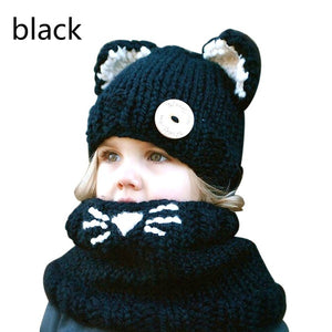 Warm Baby Girls Hats Handmade Kids Winter Wind Protection Hats