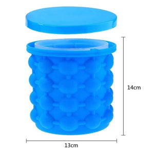 New Ice Cube Maker Genie Space Saving Silicone Ice Mug Mold Home Kitchen