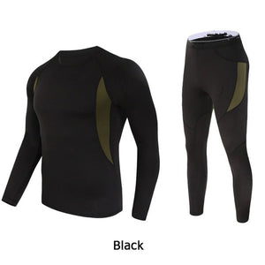 Men Thermal Underwear Set Comfortable Warm Outdoor Sport Tights Suit