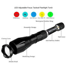 Load image into Gallery viewer, Waterproof Mini T6 Led Tactical LED Flashlight Zoom Super Bright Military Grade