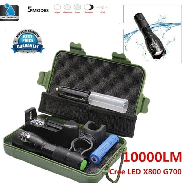 Waterproof Mini T6 Led Tactical LED Flashlight Zoom Super Bright Military Grade