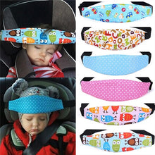 Load image into Gallery viewer, Car Adjustable Safety Seat Sleep Positioner Head Support Pram Stroller Fastening Belt Infants Baby