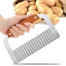 Load image into Gallery viewer, Crinkle Wavy Cutter Stainless Steel Vegetable Potato Chip French Fry Slicer Tool