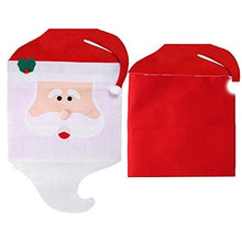 Load image into Gallery viewer, Mrs & Mr Santa Claus Christmas Dinner Banquet Chair Back Cover Xmas Decor
