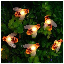 Load image into Gallery viewer, 20 LED Solar Honey Bee Fairy String Lights Outdoor Garden Wedding Party DIY