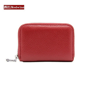 Faux Leather Purse Anti-theft Card Holder High Capacity Multifunction Card Package RFID Protector