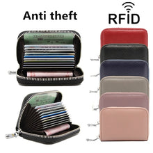 Load image into Gallery viewer, Faux Leather Purse Anti-theft Card Holder High Capacity Multifunction Card Package RFID Protector