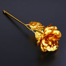 Load image into Gallery viewer, Valentine's Day Gifts 24k Golden Rose Foil Plated Rose Creative Gifts Lasts Forever Rose