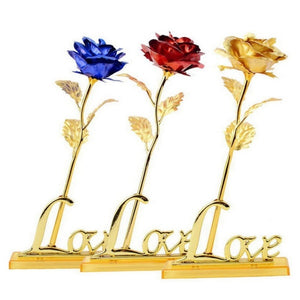 Valentine's Day Gifts 24k Golden Rose Foil Plated Rose Creative Gifts Lasts Forever Rose