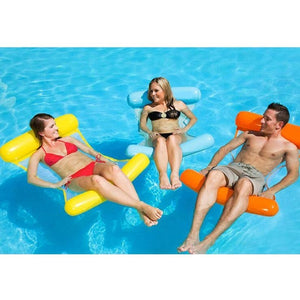 Inflatable Swimming Pool Lounger Chair Luxury Swimming Pool Air Bed Mat