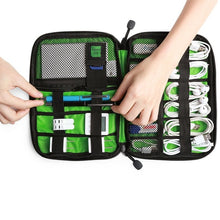 Load image into Gallery viewer, USB Cable Earphone Storage Bag Flash Drive Organizer Digital Gadget Holder