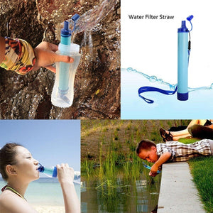 Outdoor Portable Water Purifier Camping Hiking Emergency Life Survival Water Filter