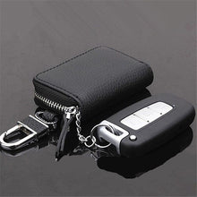 Load image into Gallery viewer, Auto Car Key Leather Case Pouch Remote Keychain Key Bag Holder Organizer