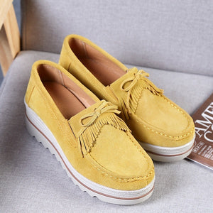 Suede Winter Warm Flats Swing Wedges Chaussure Femme Woman Platform Shoes