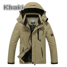 Load image into Gallery viewer, Winter Jacket Men Thick Velvet Warm Coat Windproof Hoodied Jacket