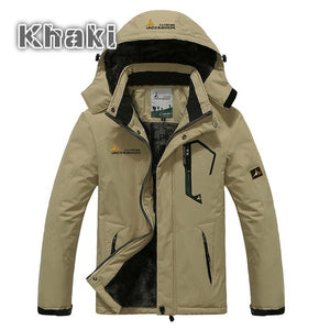 Winter Jacket Men Thick Velvet Warm Coat Windproof Hoodied Jacket