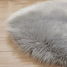 Load image into Gallery viewer, Fluffy Round Rug Artificial Wool Floor Carpet Home Decor