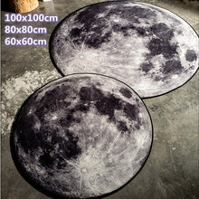Load image into Gallery viewer, Grey Moon Round Floor Mats Carpet Rug Anti-slip Doormat