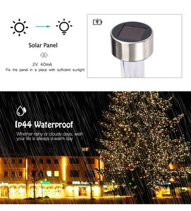 10pcs Outdoor Solar Powered LED Courtyard Lawn Lamp