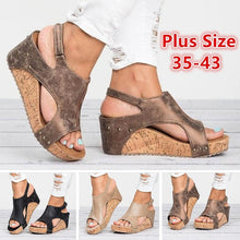 Load image into Gallery viewer, Women Fashion Casual Shoes Summer Platform Sandals Plus Size 35-43