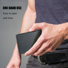 Load image into Gallery viewer, Anti-Scan Stainless Steel Case Slim RFID Blocking Wallet ID Credit Card Holder Men
