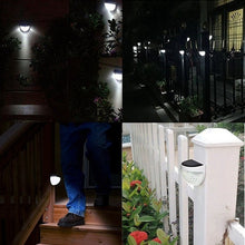 Load image into Gallery viewer, 1/2/4 Packs IP65 Solar Powered Wireless Light Waterproof Lamp with 6 LEDs Light Sensor Auto on&off