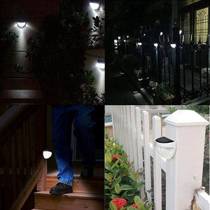 1/2/4 Packs IP65 Solar Powered Wireless Light Waterproof Lamp with 6 LEDs Light Sensor Auto on&off