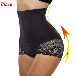 Women's Waist Trainers Training Cinchers Lace Mesh Butt Lift Panties High Waist Underwear