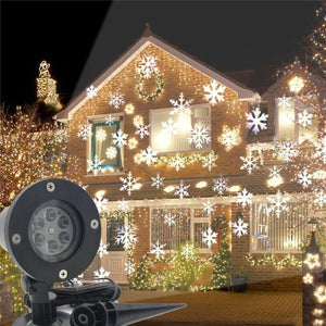 Christmas Decoration LED Snowflake Projector Light White And Multicolor Snowflake