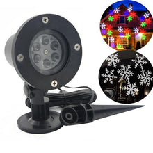 Load image into Gallery viewer, Christmas Decoration LED Snowflake Projector Light White And Multicolor Snowflake