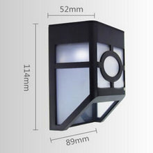 Load image into Gallery viewer, Solar Powered Mount LED Wall Light Outdoor Garden Path Landscape Fence Yard Lamp