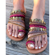 Load image into Gallery viewer, Suede Tassel Lace Up Gladiator sandal Women Summer Flat Sandals