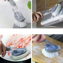 Load image into Gallery viewer, Refill Dish Washing Brush Pot Cleaning Sponge Soap Dispenser Kitchen Wash Tools