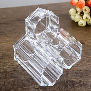 Makeup Brush Lipstick Tube Transparent Acrylic Eyebrow Pencil Storage Box