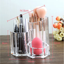 Load image into Gallery viewer, Makeup Brush Lipstick Tube Transparent Acrylic Eyebrow Pencil Storage Box