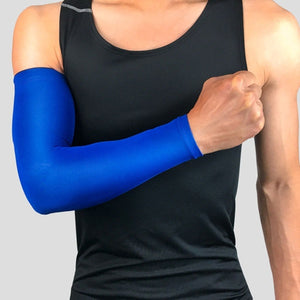 Sports Arm Sleeves Protector Golf Basketball Cycling UV Warmers Elbow Protector Pad Covers