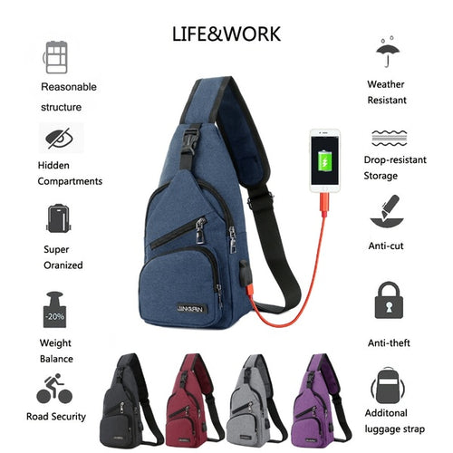10L Backpack Chest Cross Body One Strap Shoulder Day Pack for Men Women