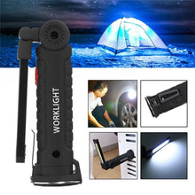 Load image into Gallery viewer, Outdoor Lighting Camping Convenient Magnetic Head Design LED COB Rechargeable Work Light