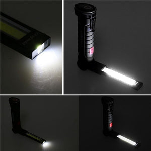 Outdoor Lighting Camping Convenient Magnetic Head Design LED COB Rechargeable Work Light