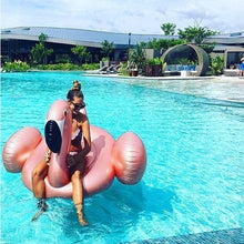 Load image into Gallery viewer, Inflatable Flamingo Swimming Ring Baby Adult Pool Float