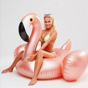 Inflatable Flamingo Swimming Ring Baby Adult Pool Float