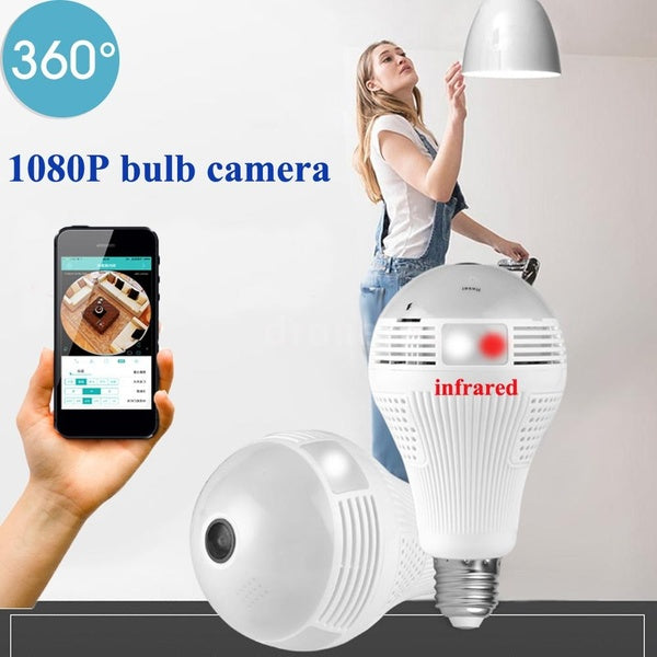 360°Bulb Camera Security Mini Wireless Lamp