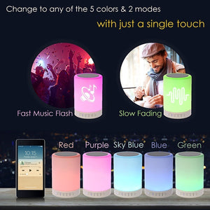 Night Light Portable Wireless Bluetooth Speakers Touch Control Color Change Table Lamp Speaker
