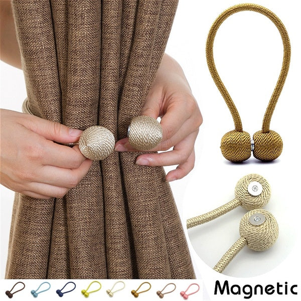 Curtain Bandage Minimalist Creative Magnet Curtain Buckle Ring Hook Wall Hook Bandage Curtain Clip Free Punch