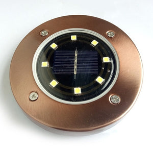 5/8/12LED Solar Power Buried Light Under Ground Lamp Outdoor Path Way Garden Lawn Yard Outdoor Lighting